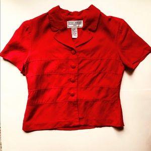 Red Button Up Blazer